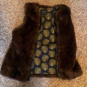 Faux Brown Fur Vest-Sanctuary Clothing Los Angelos